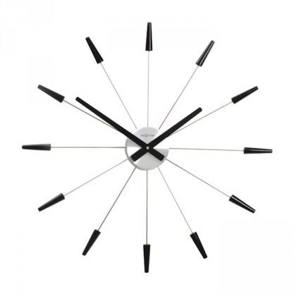 Plug Inn - hodiny, nástenné, guľaté (nerez, čierne)