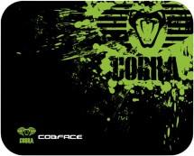 Podložka pod myš Cobra S, herná, čierno-zelená, 28x22.5cm