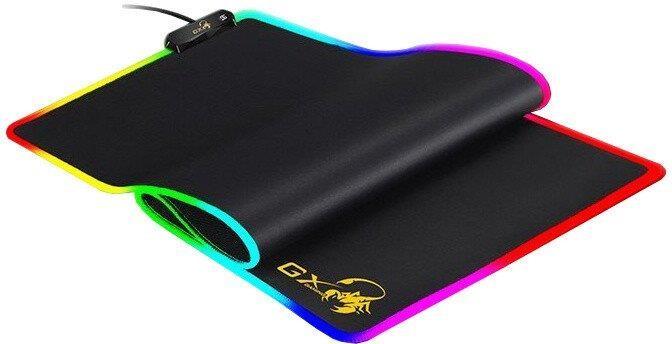 Podložka pod myš Genius GX-Pad 800S, RGB, 80x30 cm, čierna