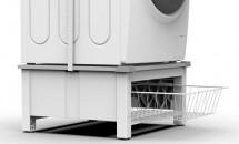 Podstavec s košom pre práčku a sušičku Meliconi M656143