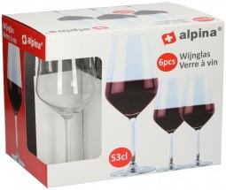 Poháre na červené víno Alpina 871125286429, 6x530ml