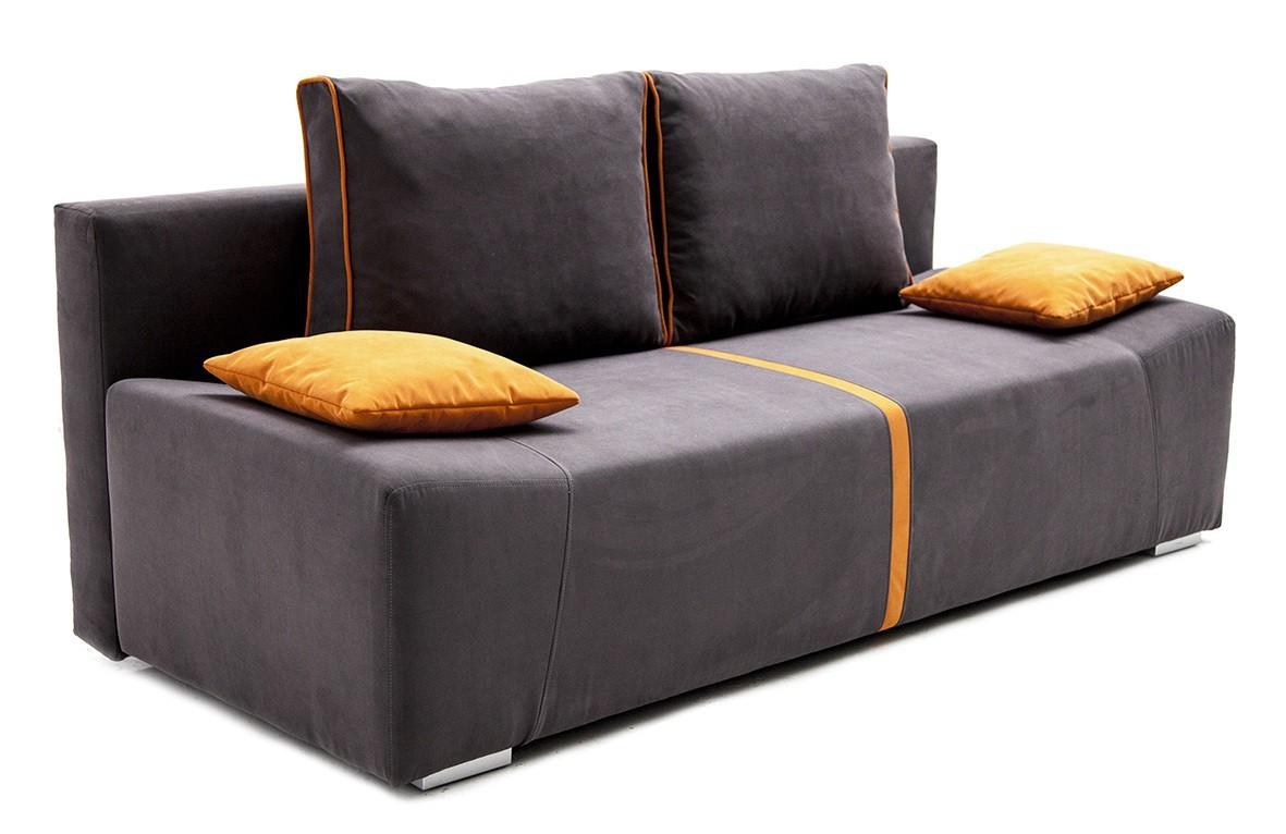 Pohovka Zoe - Pohovka, rozkladacia, úložný priestor (hnedá, oranžová)