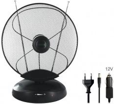 Pokojová anténa se zesilovačem - aktivní, HD příjem DVB-T/T2