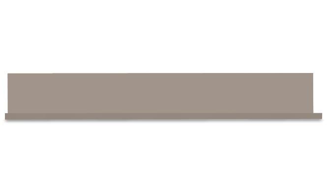 Polica Linea - police na stenu (sivý kameň lak/sivý kameň)