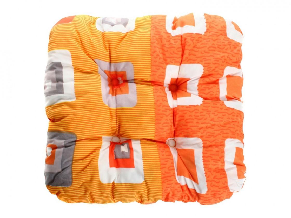 Polster Podsedák - Záhradný kocka, 38x38x7 cm (oranžová)