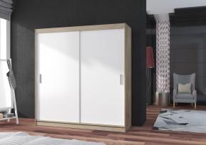 POP 2 - Skriňa 180x215x60 cm, posuvné dvere (biela/dub sonoma)