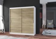 Pop - Skriňa 180x215x60, posuvné dvere (dub sonoma/biela)
