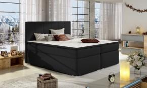 Posteľ Boxspring Bolero 160x200, čierna, vrátane matracov a úp