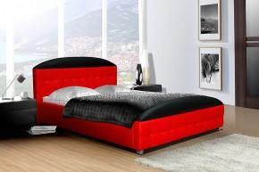 Posteľ II - červená, matracový rám, úložný priestor