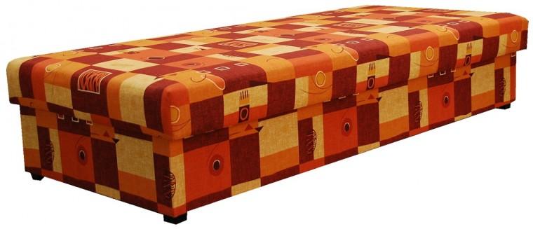 Postele 90x200 Váľanda Dana 90x200, oranžová, vrátane matraca a úp