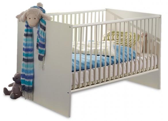 Postieľky a príslušenstvo Bibi - Detská postieľka (alpská biela, modrá)
