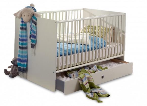Postieľky, prísluš. Bibi - Detská postieľka včetně bočnic (alpská biela, modrá)