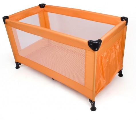Postieľky, prísluš. Calme - Cestovná postieľka, 120x60x73 cm, skladacie (oranžová)