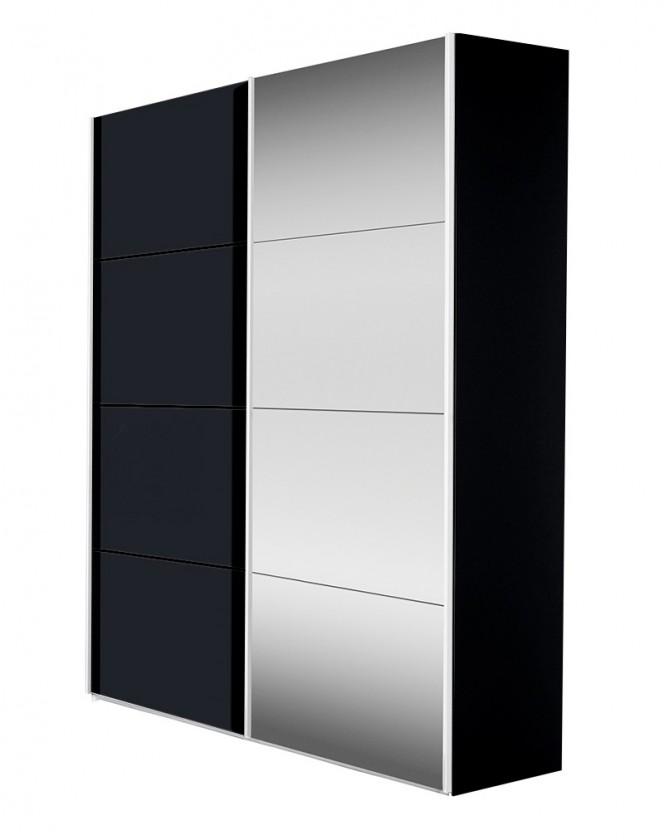 Posuvná Flavour 7093151 (antracit/krištálové zrkadlo)