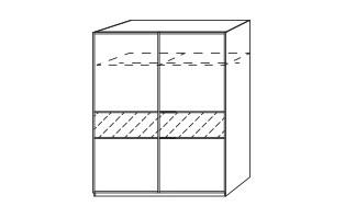 Posuvná Linea (Alpská biela/brondzové zrkadlo)