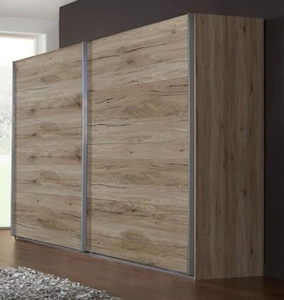 Posuvná Madrid - šatníková skriňa 2, 2x posuvné dvere (dub san remo)