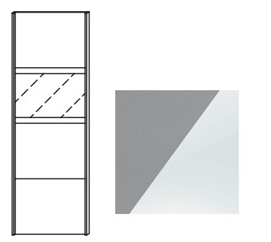 Posuvná Quadra - dvere posuvné k šatníkovej skrini 48K1