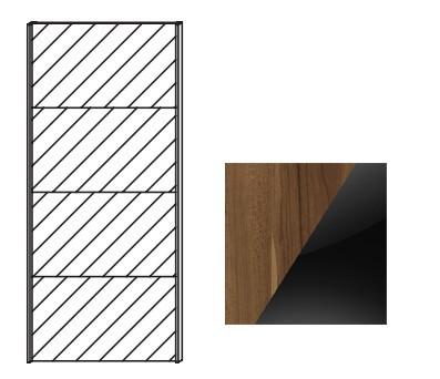 Posuvná Quadra - dvere posuvné k šatníkovej skrini 48K2, 48K8