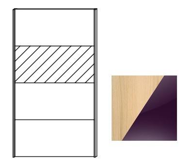Posuvná Quadra - dvere posuvné k šatníkovej skrini 48K3