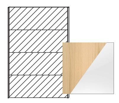 Posuvná Quadra - dvere posuvné k šatníkovej skrini 48K7, 48K8