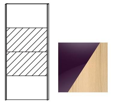 Posuvná Quadra - dvere posuvné k šatníkovej skrini 48K8