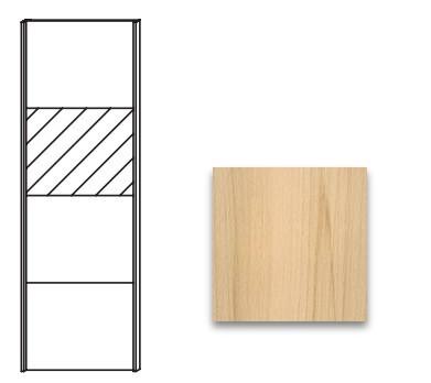 Posuvná Quadra - dvere posuvné so zrkadlom k šatníkovej skrini 48K1
