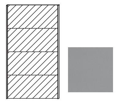 Posuvná Quadra - dvere posuvné so zrkadlom k šatníkovej skrini 48K3