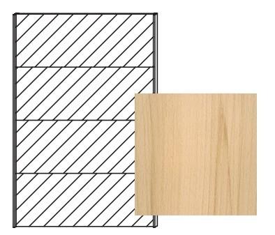 Posuvná Quadra - dvere posuvné so zrkadlom k šatníkovej skrini 48K7, 48K8