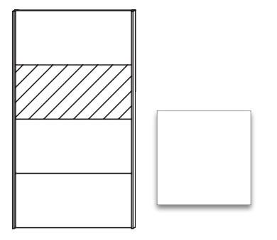 Posuvná Quadra - dvere posuvné so zrkadlom k šatníkovej skrini 48K7