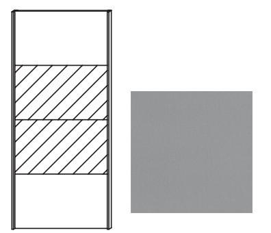 Posuvná Quadra - dvere posuvné so zrkadlom k šatníkovej skrini 48K8