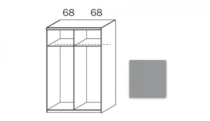 Posuvná quadra - korpus šatníkovej skrine 48K1