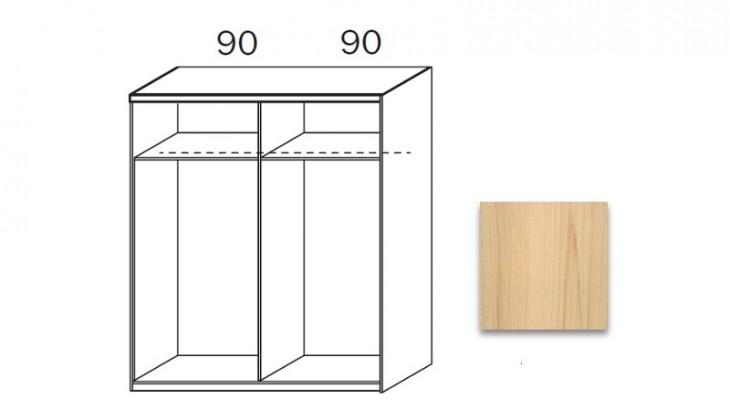 Posuvná quadra - korpus šatníkovej skrine 48K2