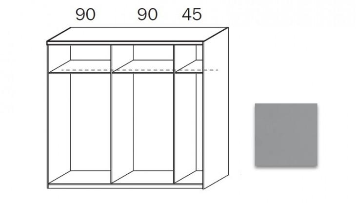 Posuvná quadra - korpus šatníkovej skrine 48K3