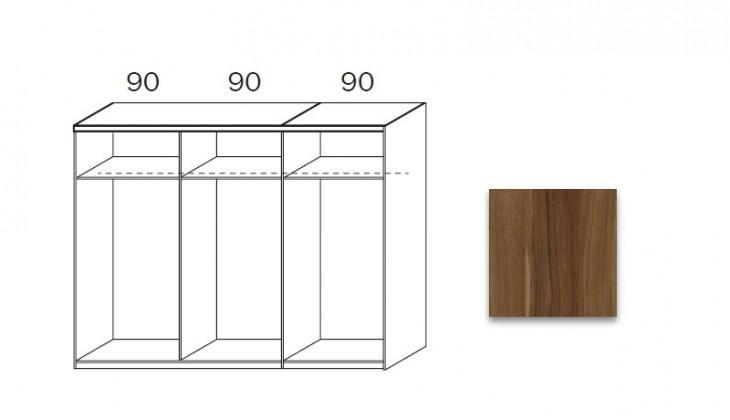 Posuvná quadra - korpus šatníkovej skrine 48K7