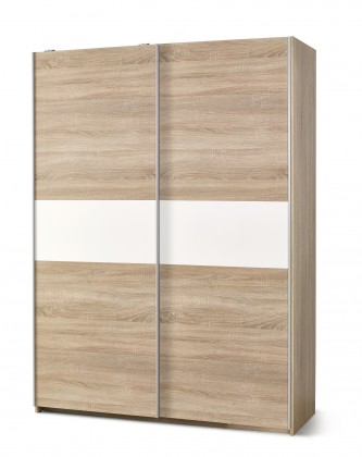 Posuvná skriňa Lima - Skriňa s posuvnými dverami (dub sonoma, biela)