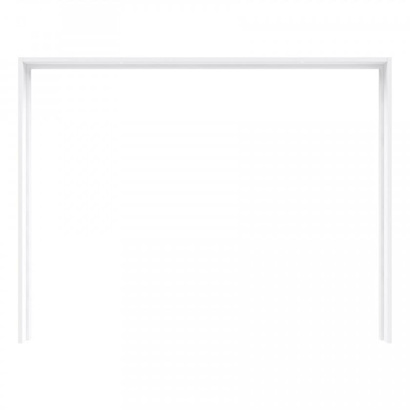Posuvná skriňa Starlet Plus - Rám skrine s osvetlením (biela lesk)