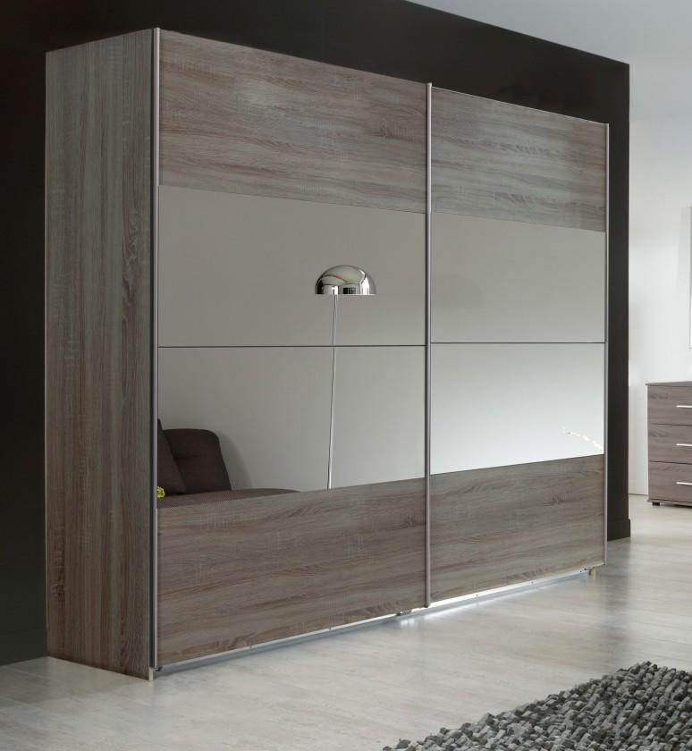 Posuvná Vicenza - šatníková skriňa 2, 2x posuvné dvere (dub montana)