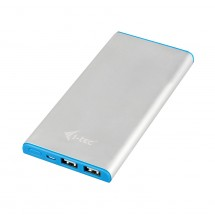 Power Bank METAL 8000 mAh Li-pol 3in1 cable microUSB/Apple 8pin