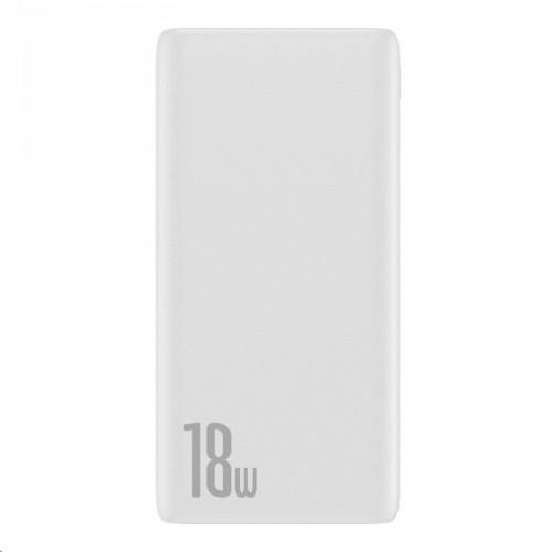 PowerBank Baseus, Bipow, 10 000 mAh, 18 W, biela