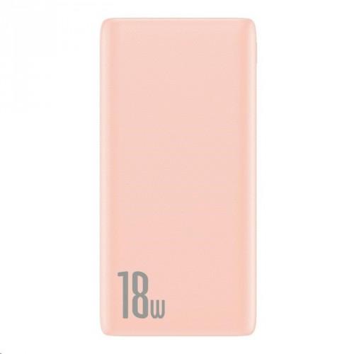 PowerBank Baseus, Bipow, 10 000 mAh, 18 W, ružová