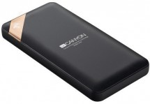 Powerbank Canyon 10000mAh, Li-Pol, displej, Smart IC, čierna