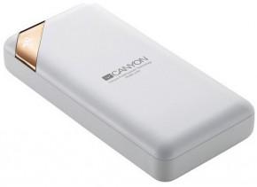 Powerbank Canyon 20000mAh, Li-Pol, displej, Smart IC, biela