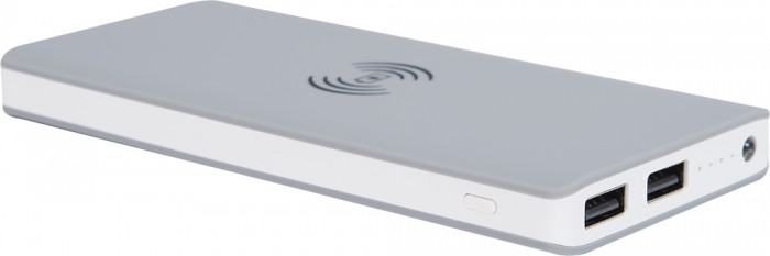 Powerbank s bezdrôtovým nabíjaním BIGBEN 8000mAh, šedá