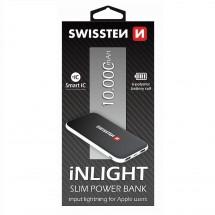 Powerbank Swissten Slim 10000mAh, Li-pol, čierna