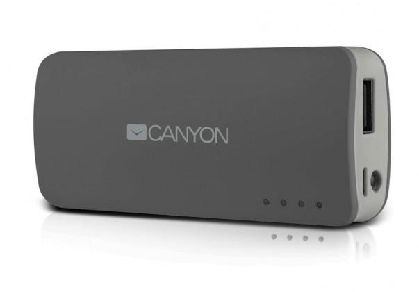 Powerbanka Canyon CNE-CPB44 Power Bank 4400mAh, sivá
