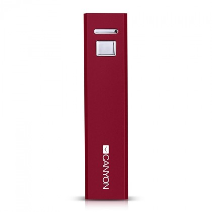 Powerbanka Canyon CNE-CSPB26R Power Bank 2600mAh, červená