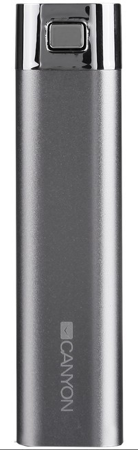 Powerbanka CANYON napájecí akumulátor 2600mAh, šedý