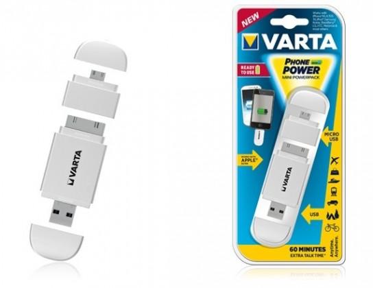 Powerbanka  Mini Powerpack(phone power white)
