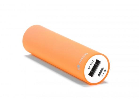 Powerbanka NGS Powerbank Powerpump 2200mAh oranžová