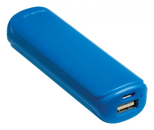 Powerbanka VALUELINE 2 200 mAh, 5 V, 1 A, modrý (VL2200PB001BU)